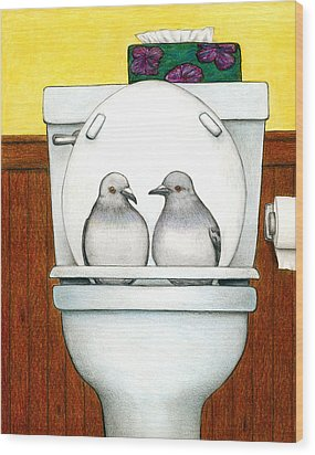 Stool Pigeon Wood Print by Don McMahon