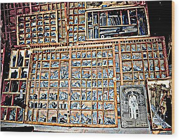 Stop The Presses Wood Print