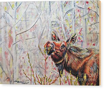 Stop To Smell The Weeds Wood Print by Tracy Rose Moyers