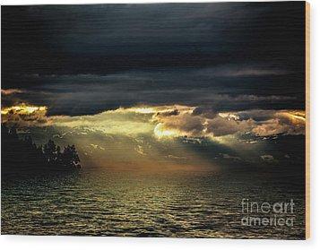 Storm 4 Wood Print by Elaine Hunter