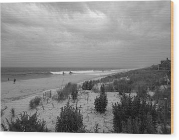 Storm Approaching - Jersey Shore Wood Print by Angie Tirado
