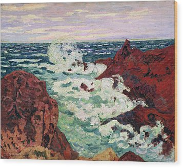 Storm At Agay Wood Print by Jean Baptiste Armand Guillaumin