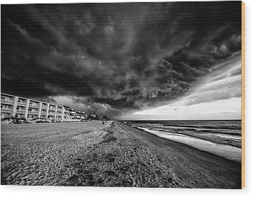 Storm Brewing Wood Print by Kevin Cable