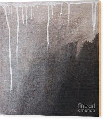 Storm Brewing Wood Print by Linda Woods