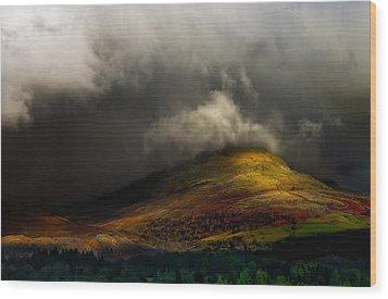 Storm Brewing Over Hawkshead Wood Print by Meirion Matthias