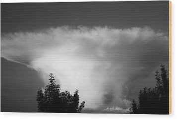 Storm Cloud Wood Print by Juergen Weiss