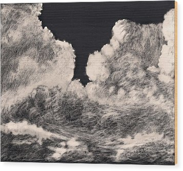 Storm Clouds 1 Wood Print by Elizabeth Lane