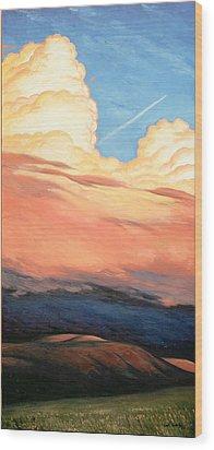 Storm Clouds And Sunsets Wood Print by Erik Schutzman