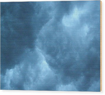 Wood Print featuring the photograph Storm Clouds by Angie Rea
