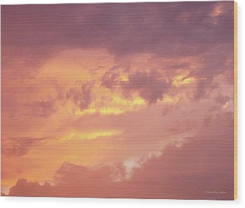 Storm Clouds Wood Print by Deborah  Crew-Johnson