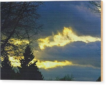 Storm Clouds Wood Print by Gerald Mitchell