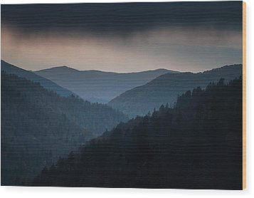 Storm Clouds Over The Smokies Wood Print by Andrew Soundarajan