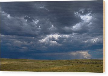 Wood Print featuring the photograph Storm Clouds To The East by Monte Stevens