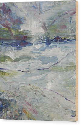 Wood Print featuring the painting Storm Currents by John Fish