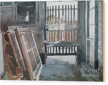Storm Doors Wood Print by Donald Maier