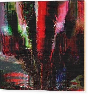 Storm Wood Print by Fania Simon
