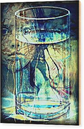 Storm In A Glass Of Water Wood Print