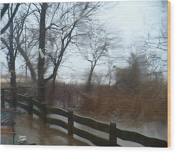Storm In Staten Island Wood Print by Desline Vitto