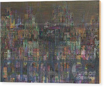 Storm In The City  Wood Print by Andy  Mercer