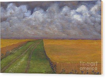 Storm Is Coming Wood Print by Anna Folkartanna Maciejewska-Dyba