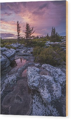 Storm Light Wood Print by Joseph Rossbach