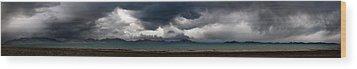 Storm On Karakul Lake. Panorama Wood Print by Konstantin Dikovsky