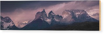 Storm On The Peaks Wood Print by Andrew Matwijec