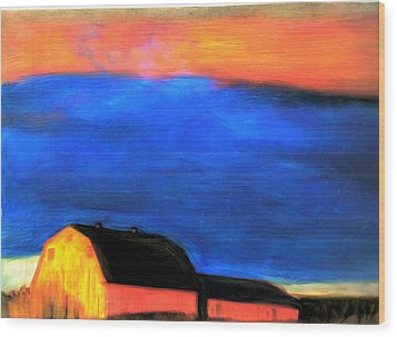 storm over Aroostook Maine Wood Print by FeatherStone Studio Julie A Miller
