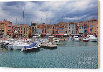 Storm Over Cassis Wood Print by Olivier Le Queinec