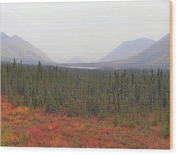 Wood Print featuring the photograph Storm Over Grayling Lake by Adam Owen