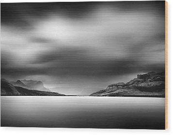 Storm Over Jasper Lake Wood Print by Dan Jurak