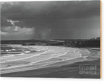 Wood Print featuring the photograph Storm  Over The Bay by Nicholas Burningham