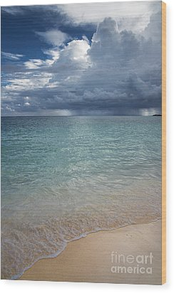 Wood Print featuring the photograph Storm Over The Caribbean Sea by Yuri Santin
