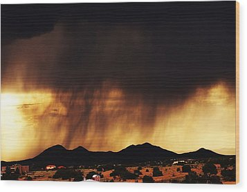 Wood Print featuring the photograph Storm Over The Mountains by Joseph Frank Baraba