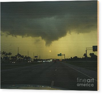 Wood Print featuring the photograph Storm Overhead by Merton Allen