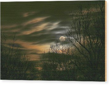 Storm Rollin' In Wood Print by J R Seymour