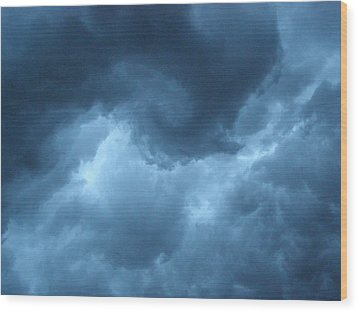 Wood Print featuring the photograph Storm Rolling In by Angie Rea
