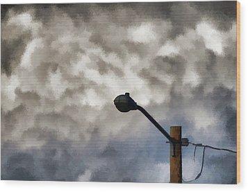 Storm Sentinel Wood Print