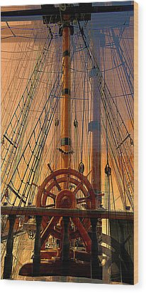 Wood Print featuring the photograph Storm Ship Of Old by Lori Seaman