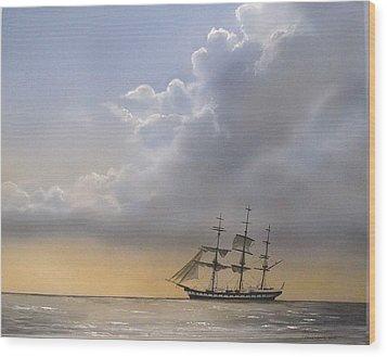Storm Sky Wood Print by Tim Johnson