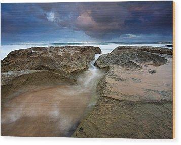 Storm Surge Wood Print by Mike  Dawson