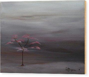 Storm Tree Wood Print by Robert Marquiss