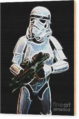 Storm Trooper Wood Print by Paul Ward