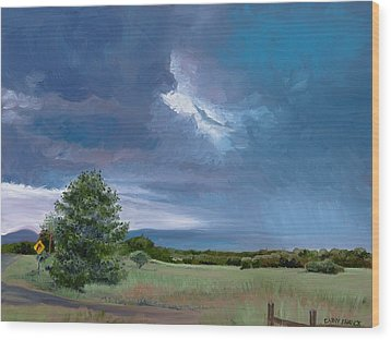 Storm Warning Yell County Arkansas Wood Print by Cathy France