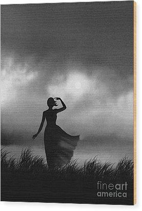 Storm Watcher Wood Print by Robert Foster