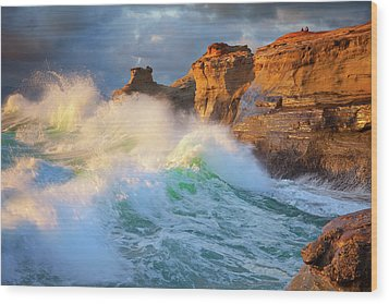 Wood Print featuring the photograph Storm Watchers by Darren White