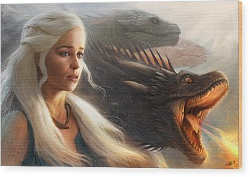 Wood Print featuring the digital art Stormborn by Steve Goad