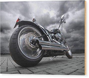 Storming Harley Wood Print