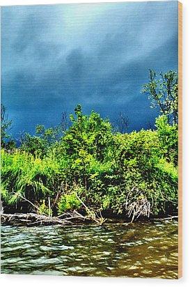 Storms Wood Print