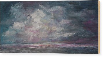 Storm's Approaching Wood Print